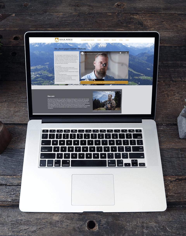 portfolio davidwuertz antjeliebe webentwicklung